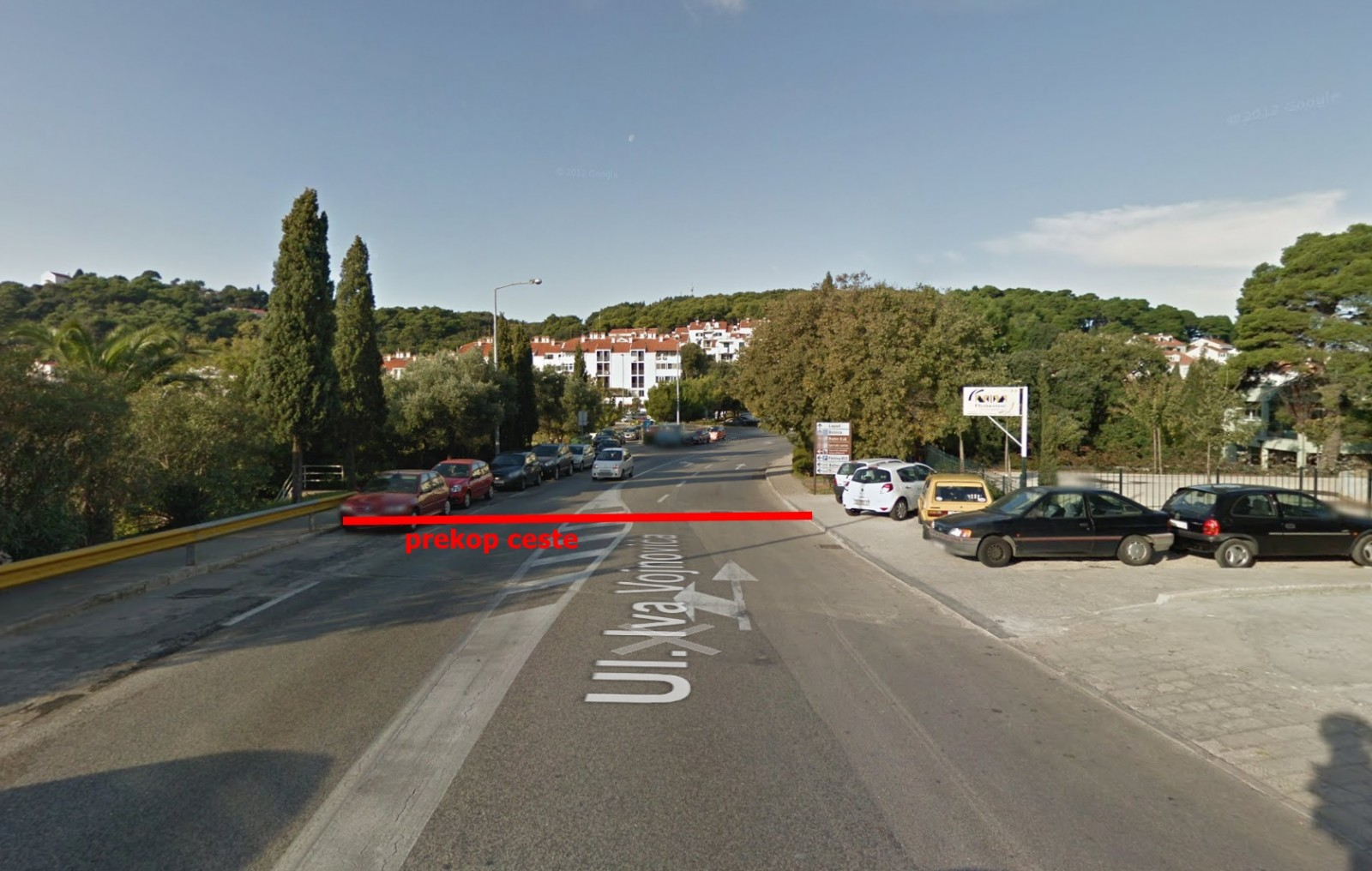 Semafor privremeno u Ulici Iva Vojnovića
