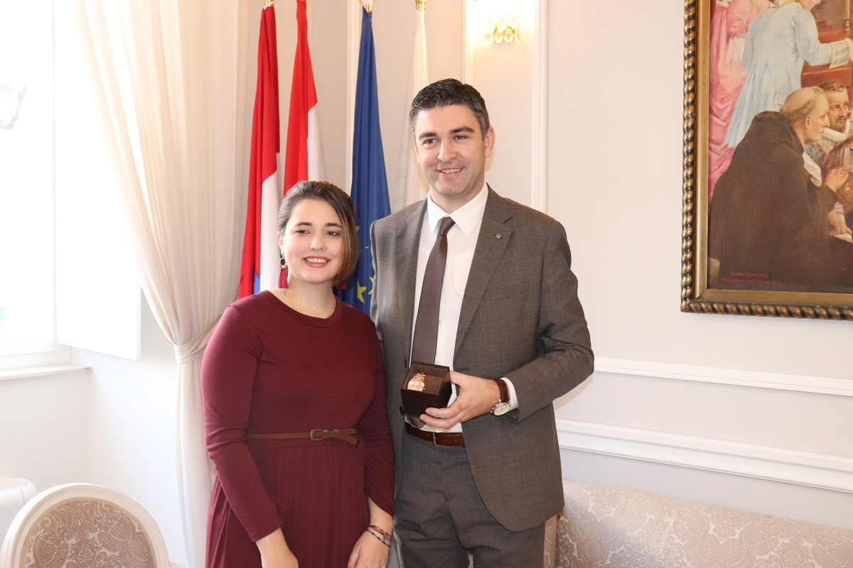 Gradonačelnik primio dobitnicu priznanja Ponos Hrvatske