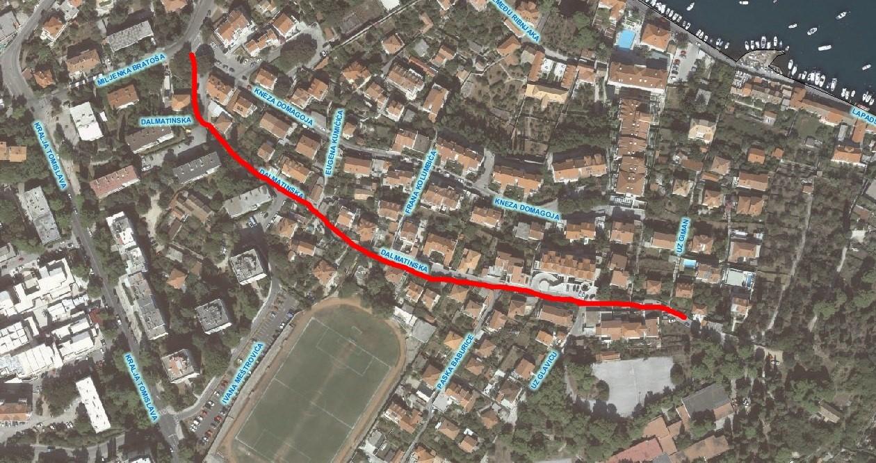 Počinju radovi na uređenju Dalmatinske ulice