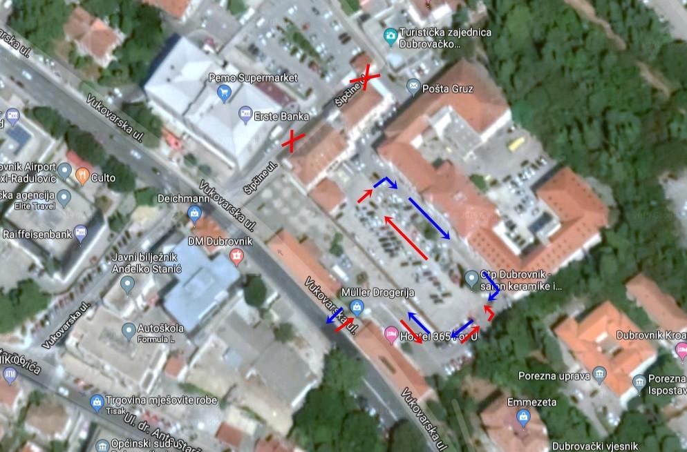 Od utorka posebna prometna regulacija oko centra Mercante