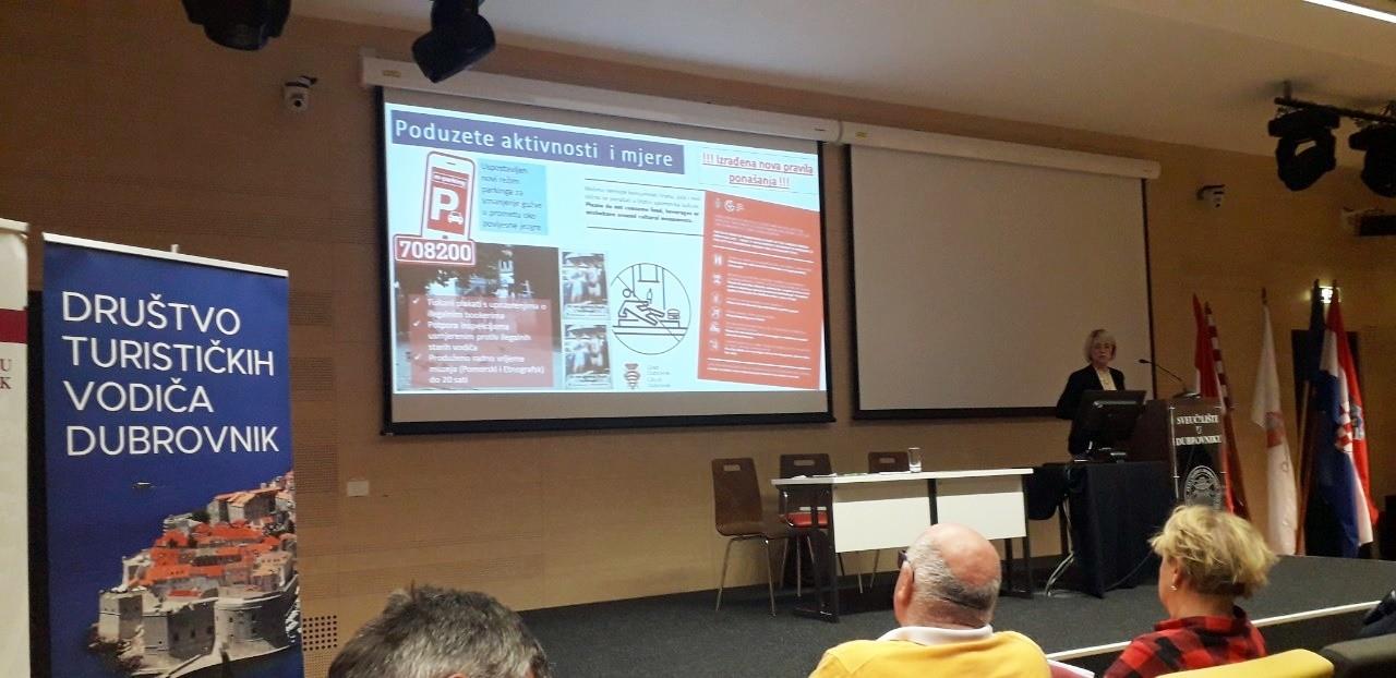 Zamjenica Tepšić dubrovačkim vodičima predstavila projekt Poštujmo Grad
