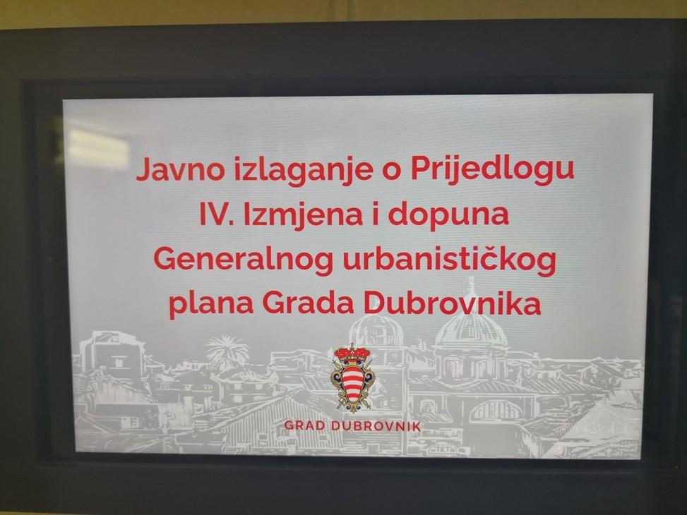 Održano javno izlaganje o Prijedlogu IV. Izmjena i dopuna GUP-a Grada Dubrovnika