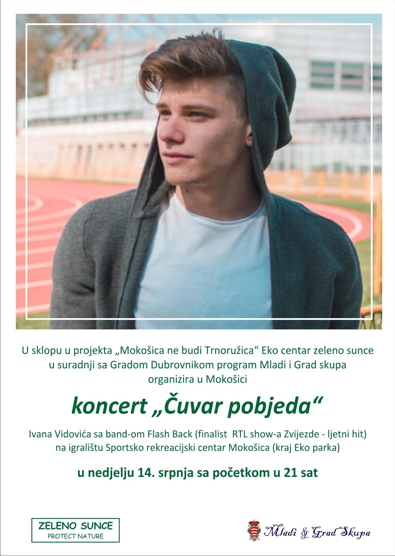 Koncert Ivana Vidovića 14. srpnja u Mokošici