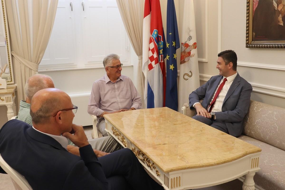 Novoizabrano vodstvo HKD Napredak Dubrovnik kod Gradonačelnika