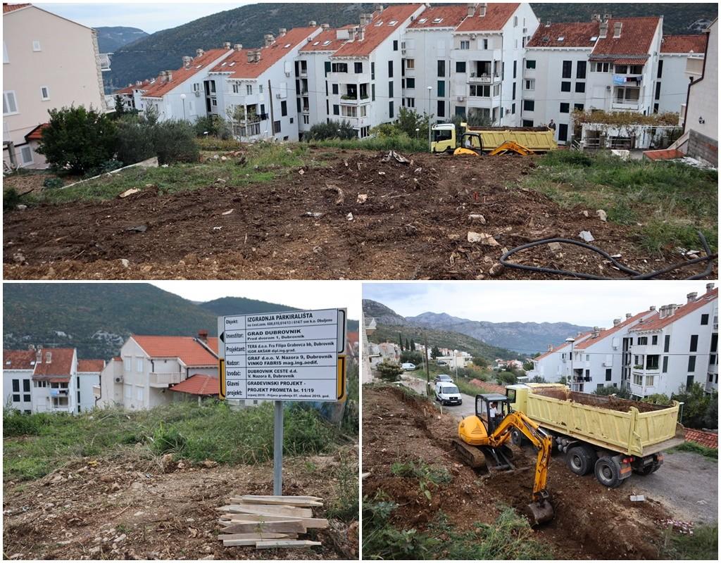 Počela izgradnja novih 66 parkirališnih mjesta u Novoj Mokošici