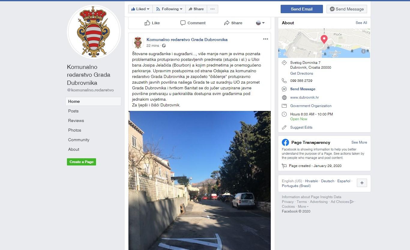 Komunalno redarstvo od sada kontaktirajte i preko Facebooka