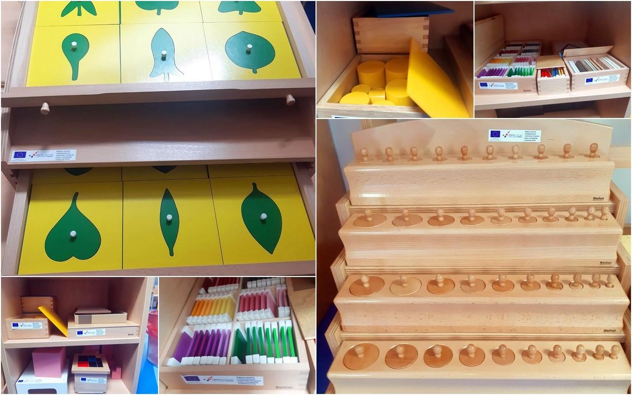 """EU PROJEKT """"GRAD ZA DJECU"""" Za tri gradska vrtića nabavljen Montessori pribor vrijedan gotovo 200 tisuća kuna"""