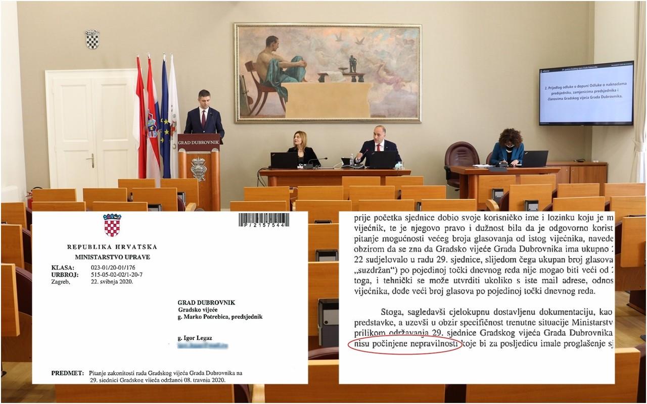 MINISTARSTVO UPRAVE Sjednica Gradskog vijeća od 8. travnja 2020. je zakonita