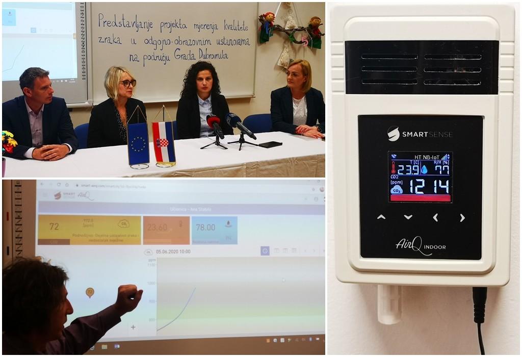 Senzori mjere kvalitetu zraka u vrtićima i školama