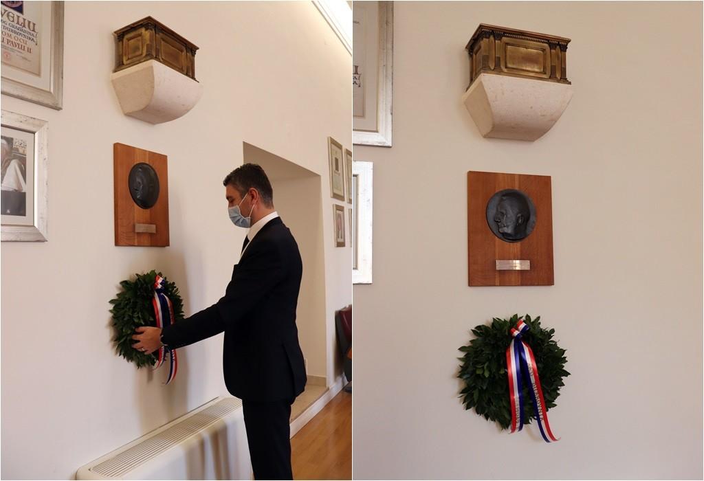 Uz 150. obljetnicu rođenja Frana Supila položen vijenac pod njegovom urnom u Vijećnici