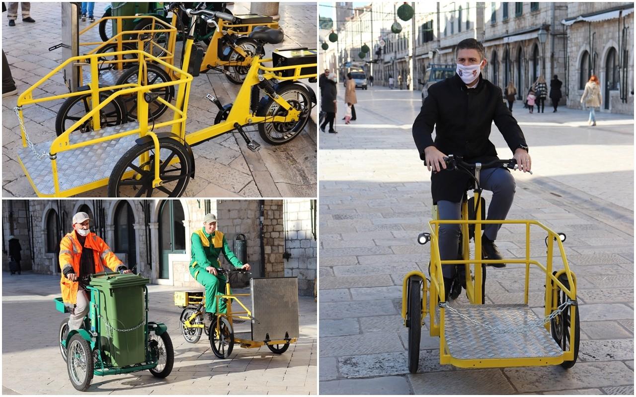 EU PROJEKT ODRŽIVE MOBILNOSTI Gradskim tvrtkama četiri teretna bicikla