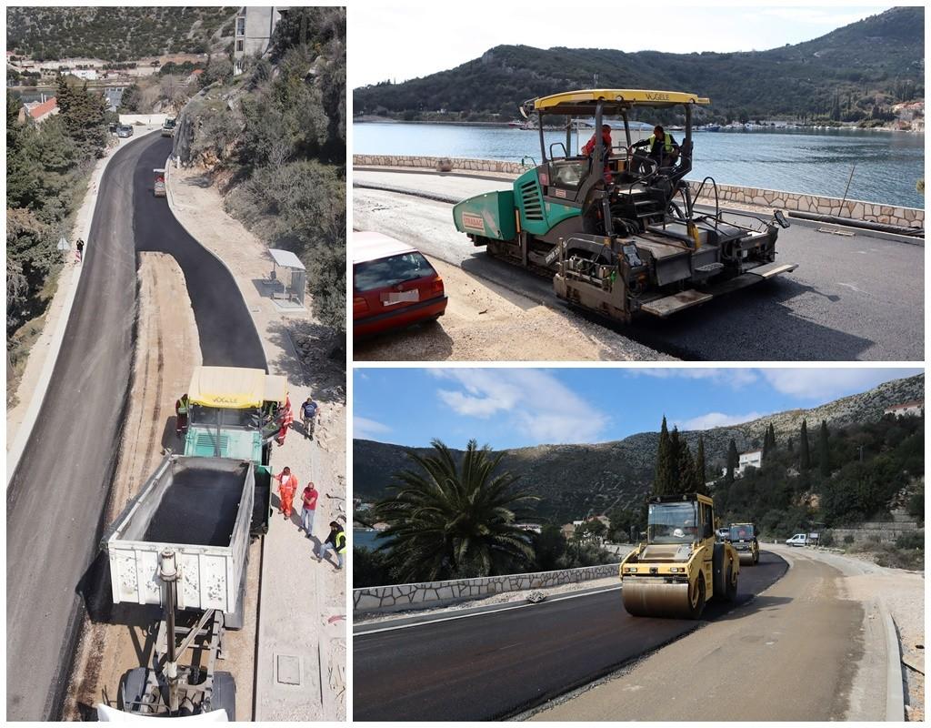 Započelo završno asfaltiranje druge dionice Zaton Veliki - Štikovica