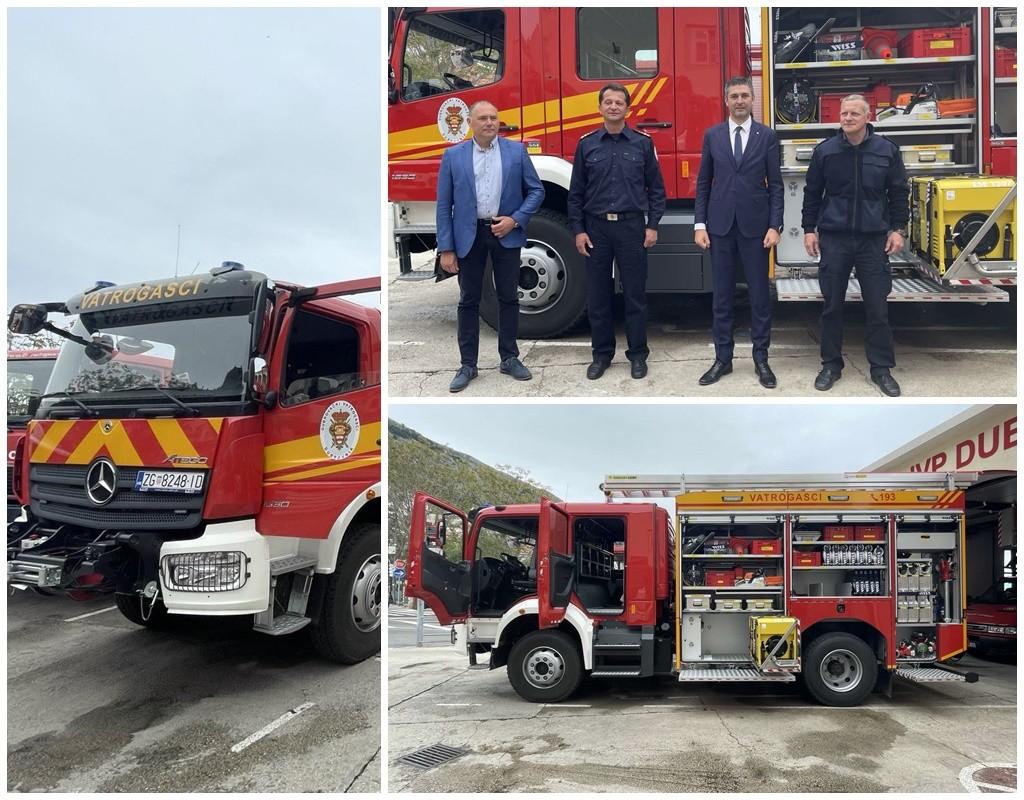 Nastavak osnaživanja žurnih službi – vatrogascima novo navalno vozilo