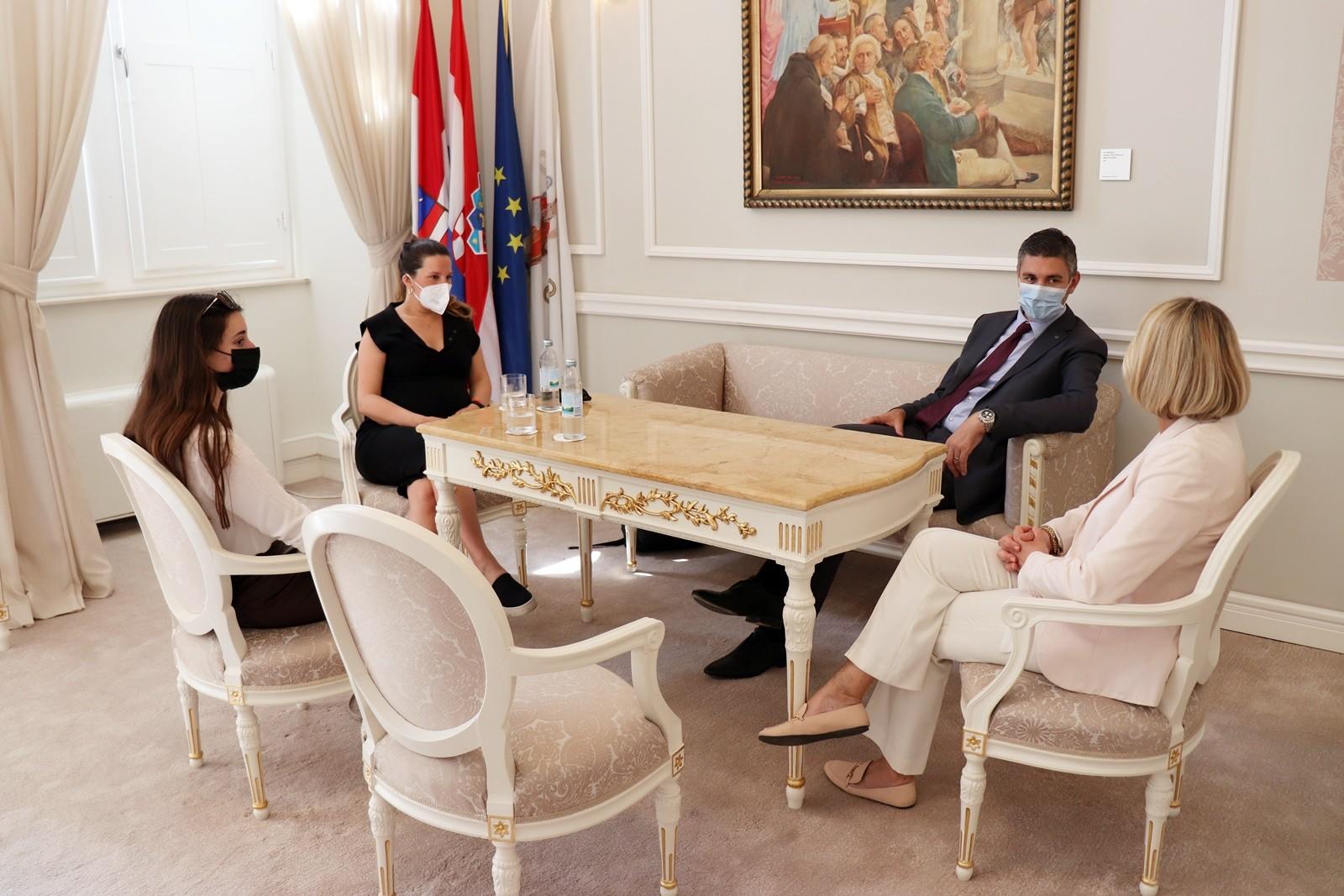 Gradonačelnik Franković primio redateljicu Antonetu Alamat Kusijanović