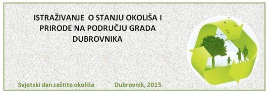 Istraživanje o stanju okoliša i prirode na području Grada Dubrovnika