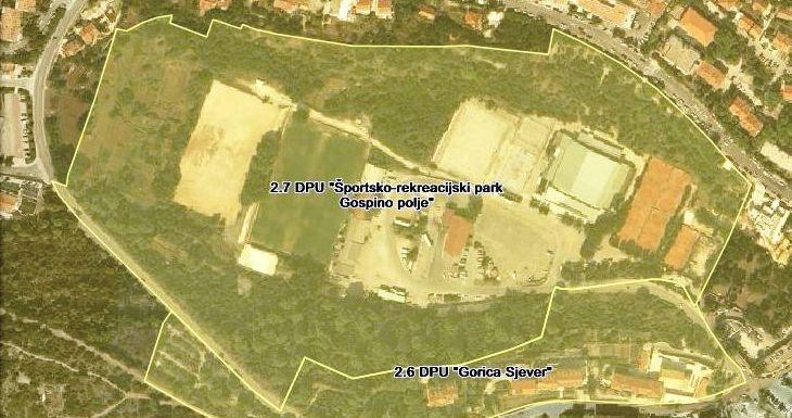 """Obavijest o početku izradbe Izmjena i dopuna Detaljnog plana uređenja """"Športsko-rekreacijski park Gospino polje"""""""