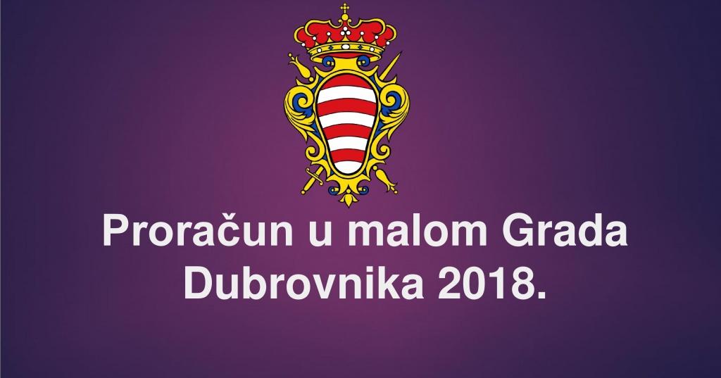 Proračun u malom Grada Dubrovnika za 2018. godinu
