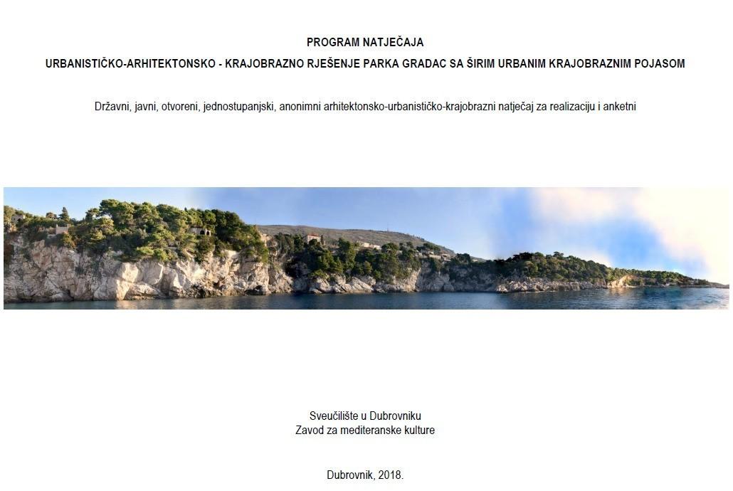 Javni uvid u Program za provedbu urbanističko-arhitektonsko-krajobraznog natječaja park Gradac sa širim urbanim krajobraznim pojasom
