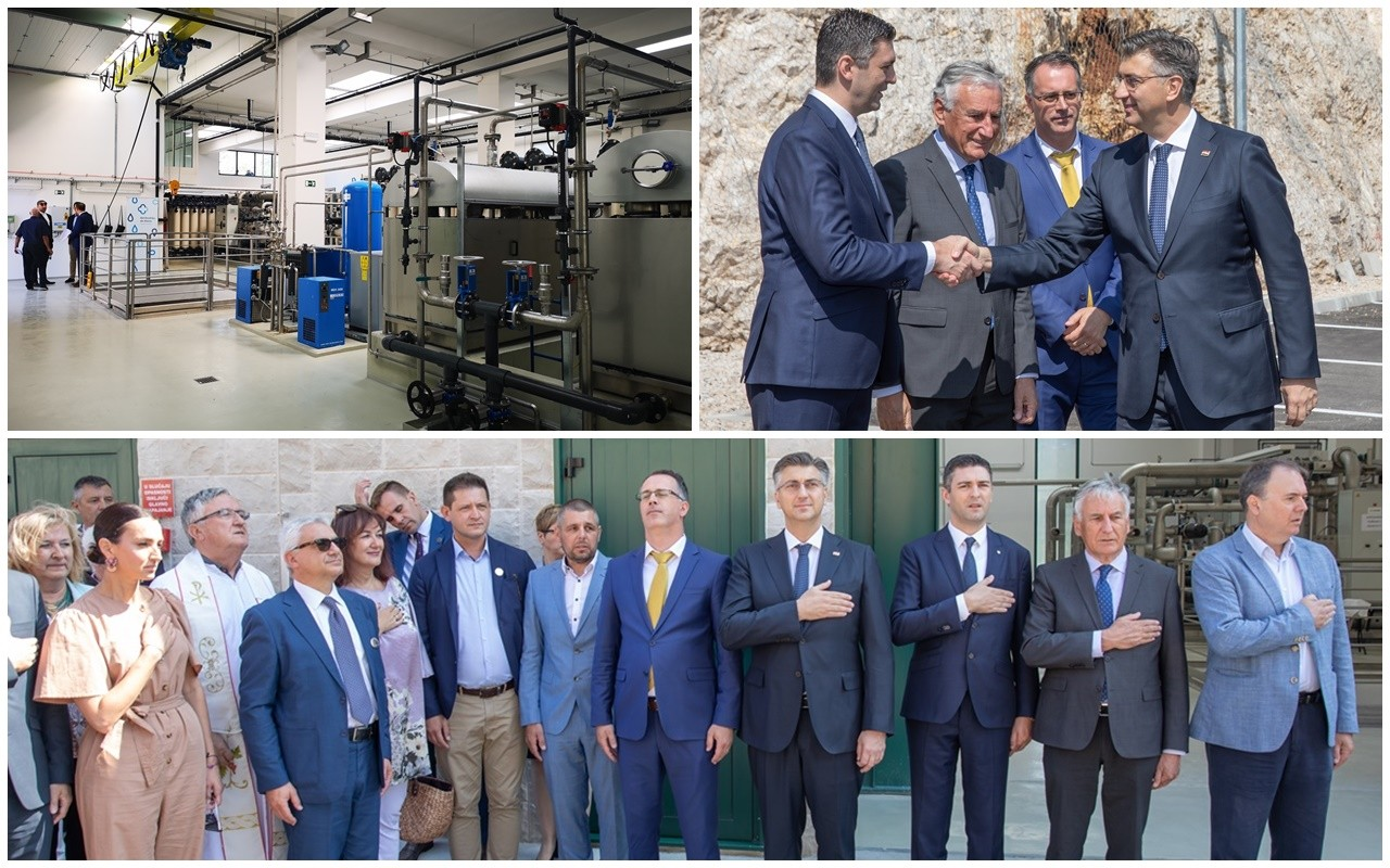 Premijer Plenković svečano otvorio pročistač pitke vode u Komolcu, gradonačelnik Franković najavio čistu pitku vodu 365 dana u godini
