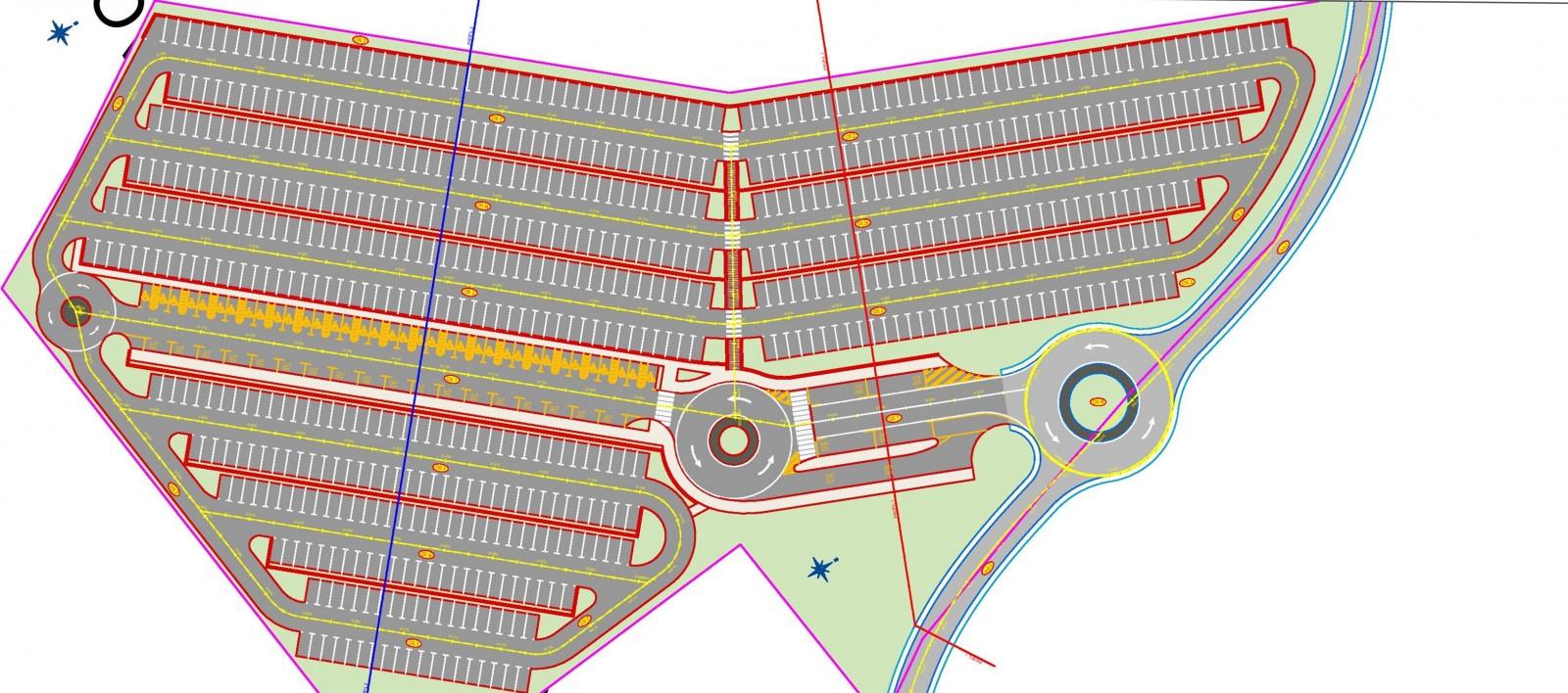 Na Pobrežju Park 'n' Ride parkiralište za 600 vozila