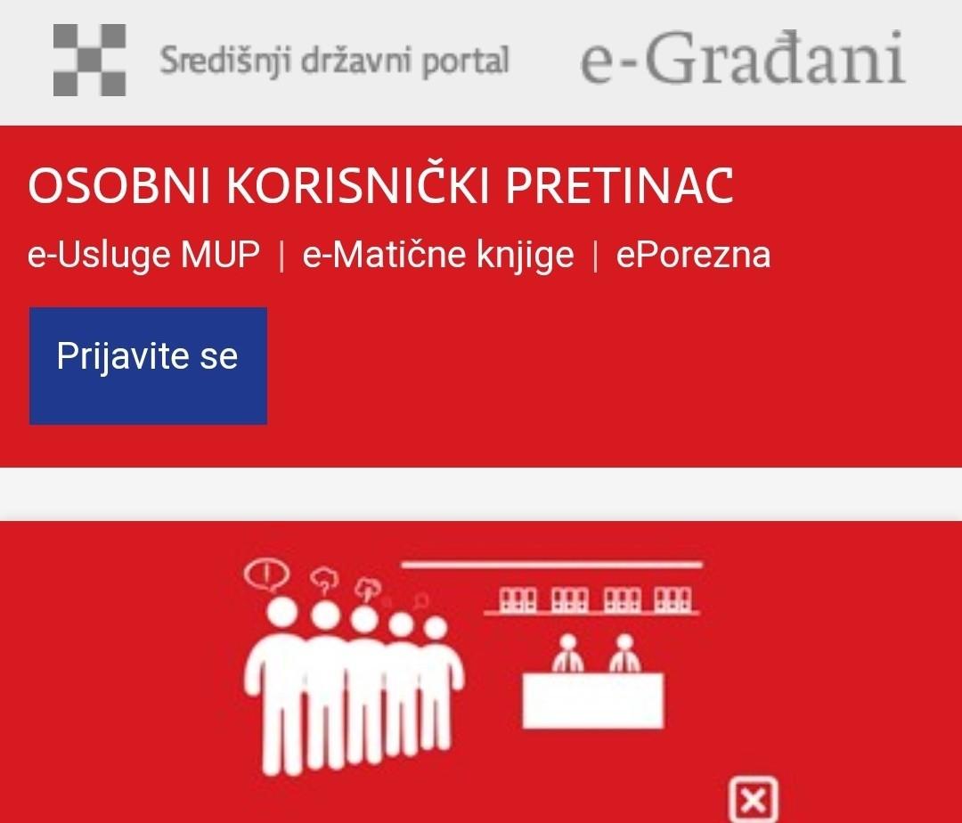 Uputa za korištenje usluge e-Građani