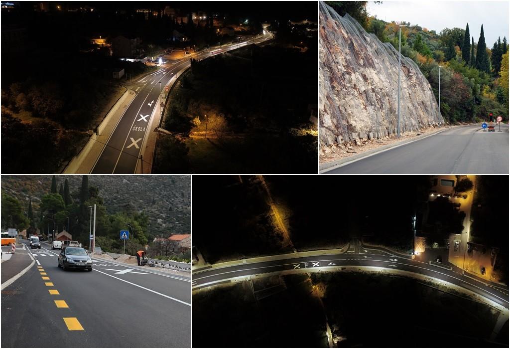 Osvijetljen 1,7 kilometara dugi dio rekonstruirane dionice državne ceste kroz Zaton