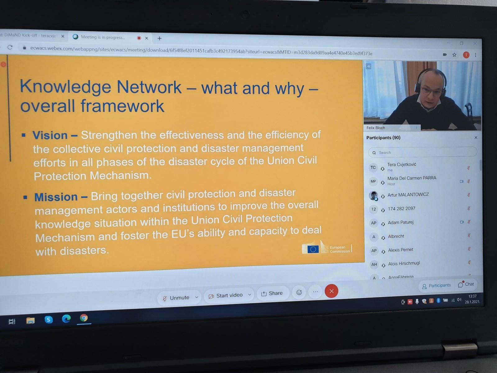 U sklopu europskog projekta DiMaND održan sastanak s predstavnicima Europske komisije